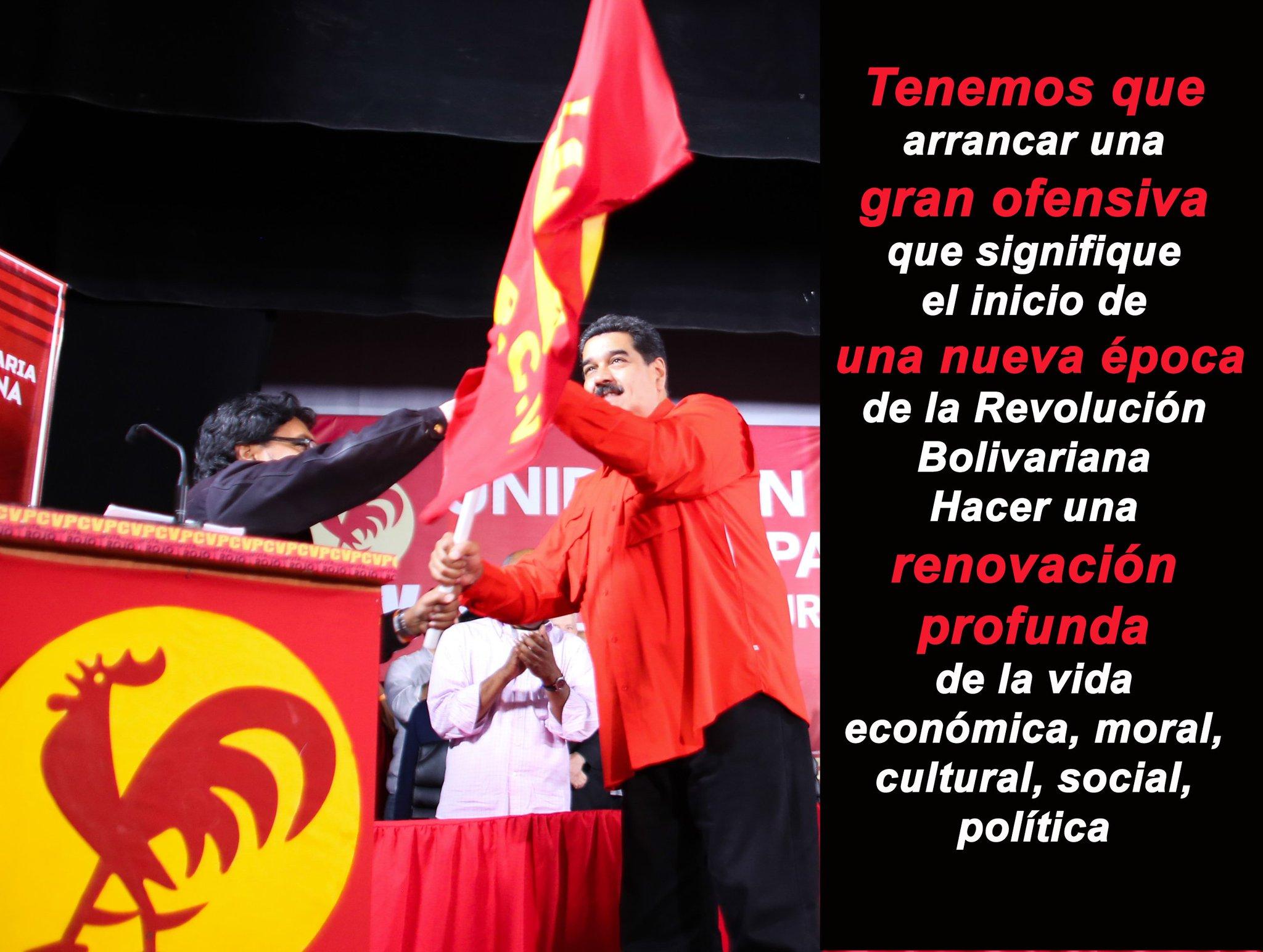 @NicolasMaduro vaticina una nueva época de la Revolución Bolivariana.... ¡MUUUY BIEN! https://t.co/aKsfFYYbay