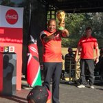 President Uhuru receives the FIFA World Cup Trophy
