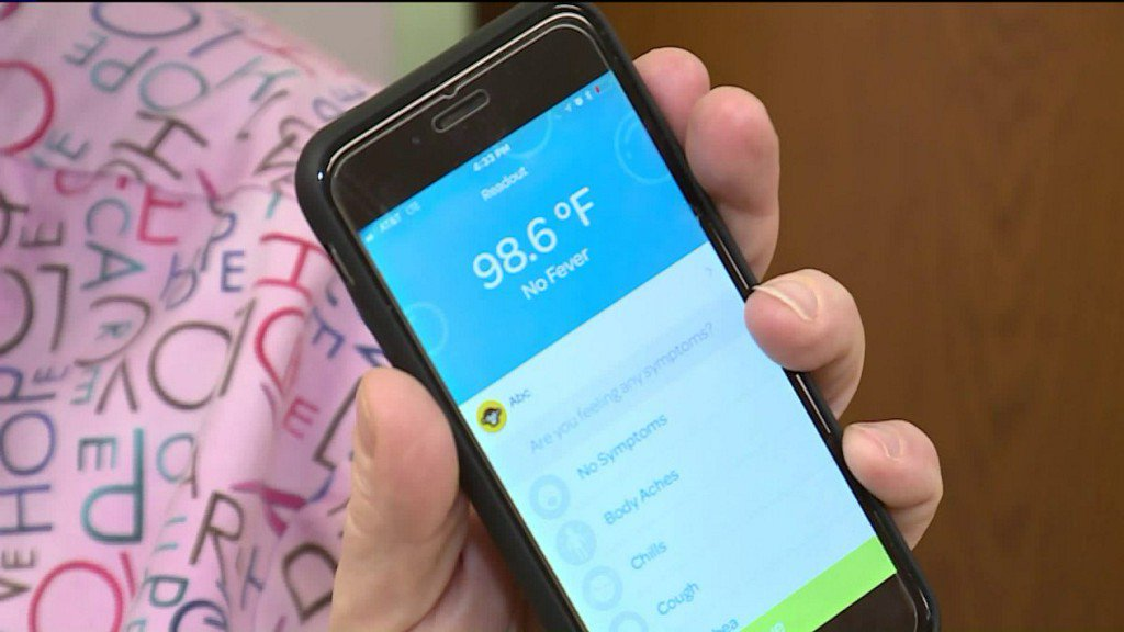 Free app and thermometer helps parents track spread ofillnesses
