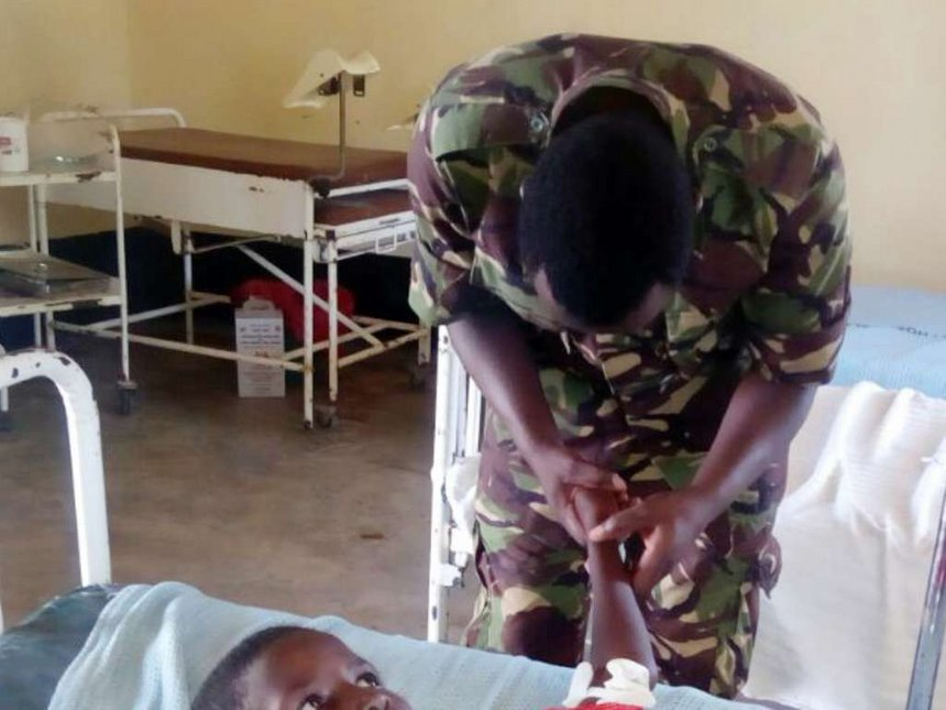 KDF in Boni put guns down to care for locals in camps