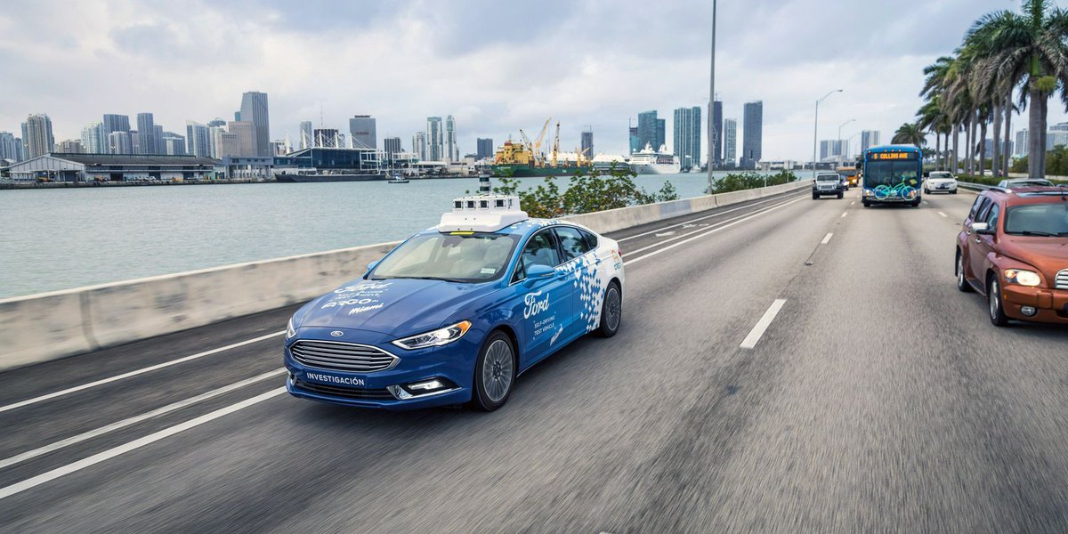 Ford to test fleet of self-driving cars in Miami