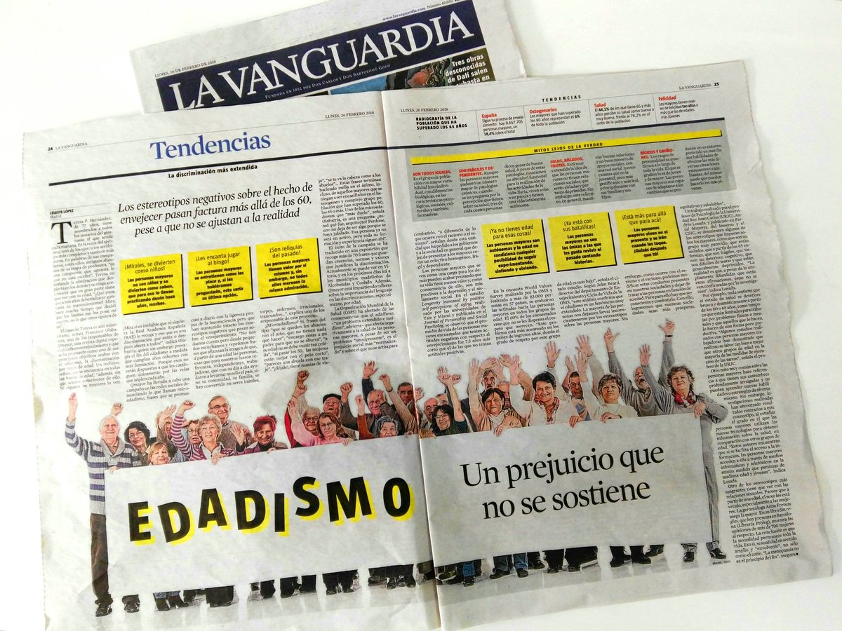 provar Twitter Mitjans - 👉 estereotipos, estigma, prejuicios cuando envejecemos!!!!bon article #lavanguardia. @abd_ong,  https://t.co/S40XDkrxAl