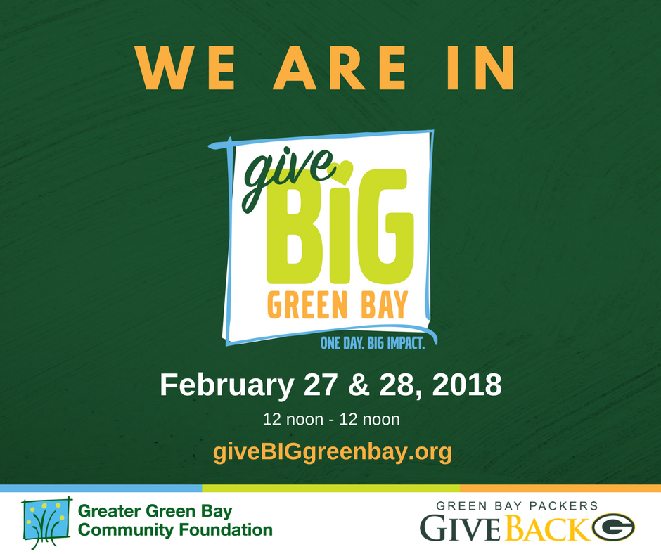 31 nonprofits. 24 hours. 1 easy way to give.  DONATE �� https://t.co/jAFPrgV7IW  #giveBIGgb #PackersGiveBack https://t.co/oYalyvH9YS