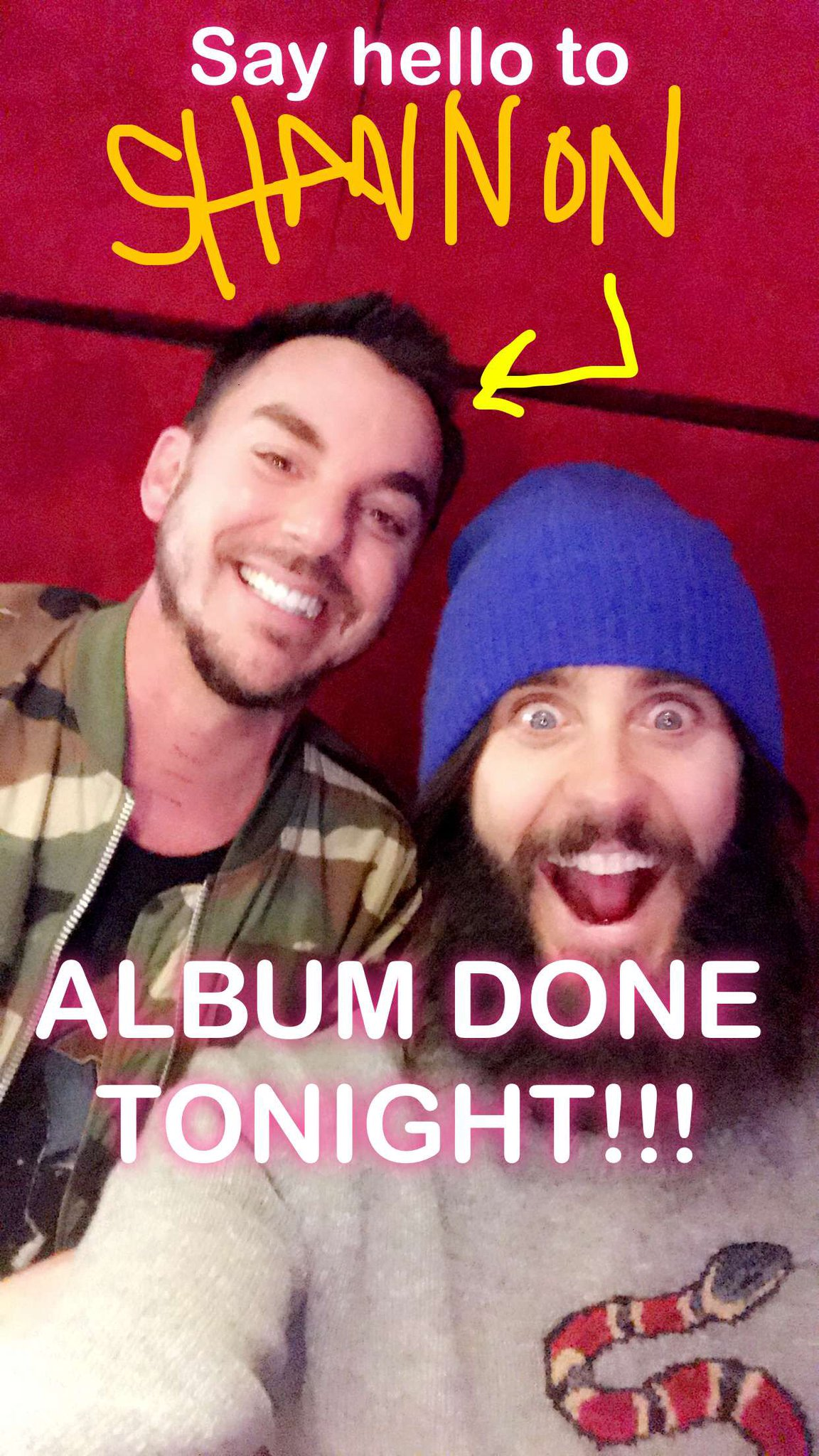 ������ ALBUM DONE!!! Check @JaredLeto's Story for all the IG Live fun before it disappears: https://t.co/2YDXcngCnL https://t.co/gUsm55TUKn
