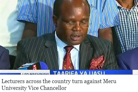 Lecturers across the country turn against Meru University Vice Chancellor