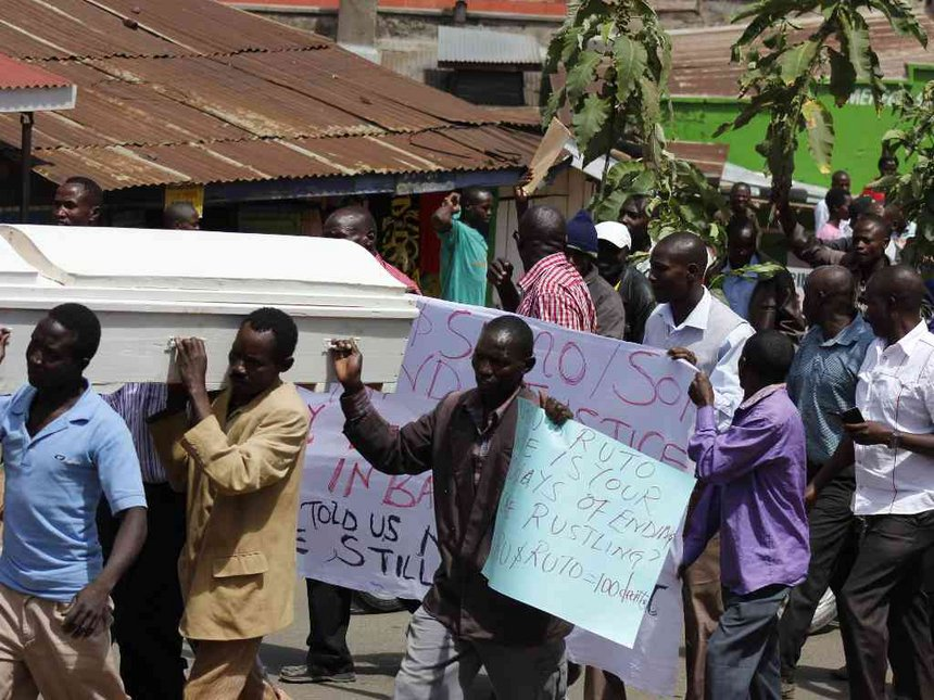 Bandits kill trader in attack on Baringo market, 25 rescued
