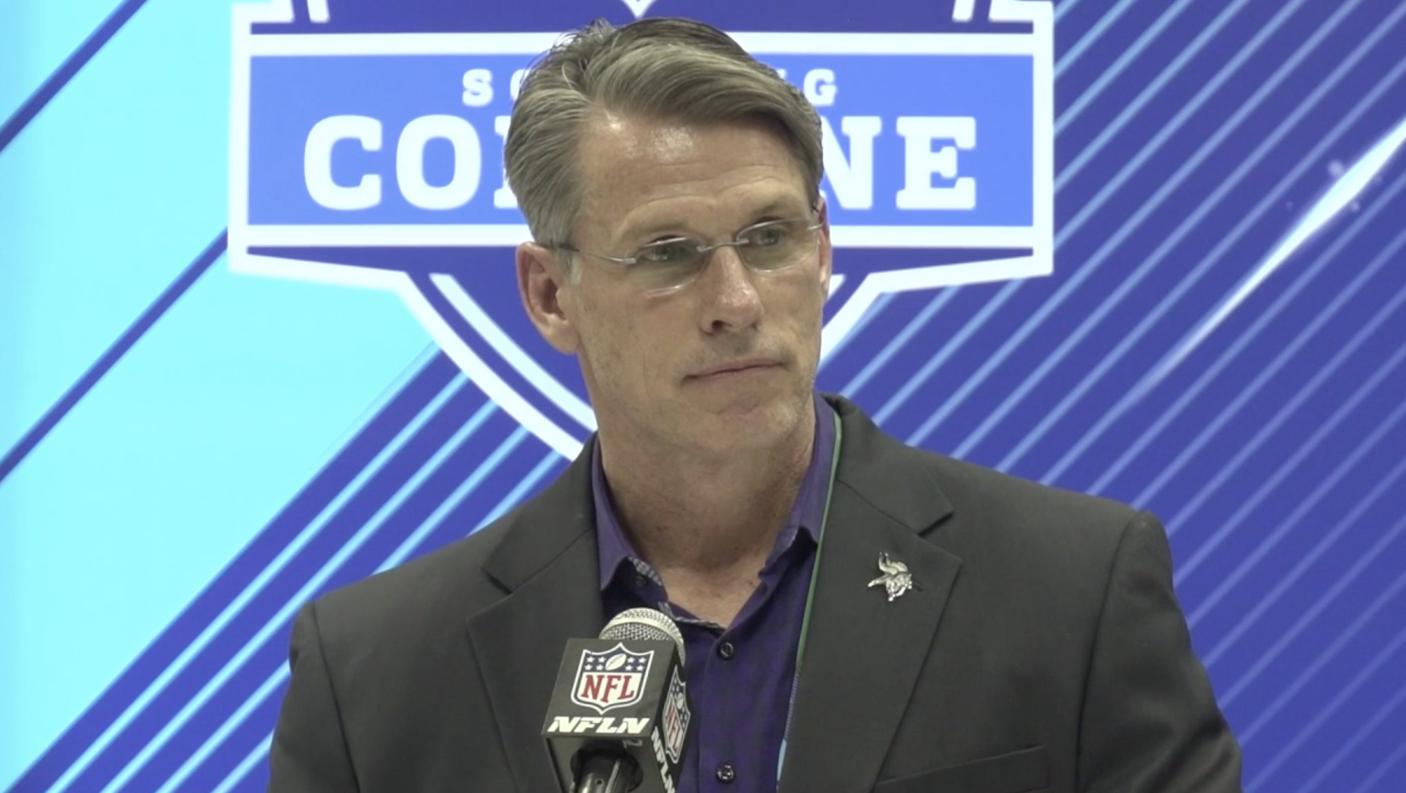 'There have been no decisions made.' - GM Rick Spielman on the QB situation   ��: https://t.co/VJYbAz69uR https://t.co/qPsXm6ibp1