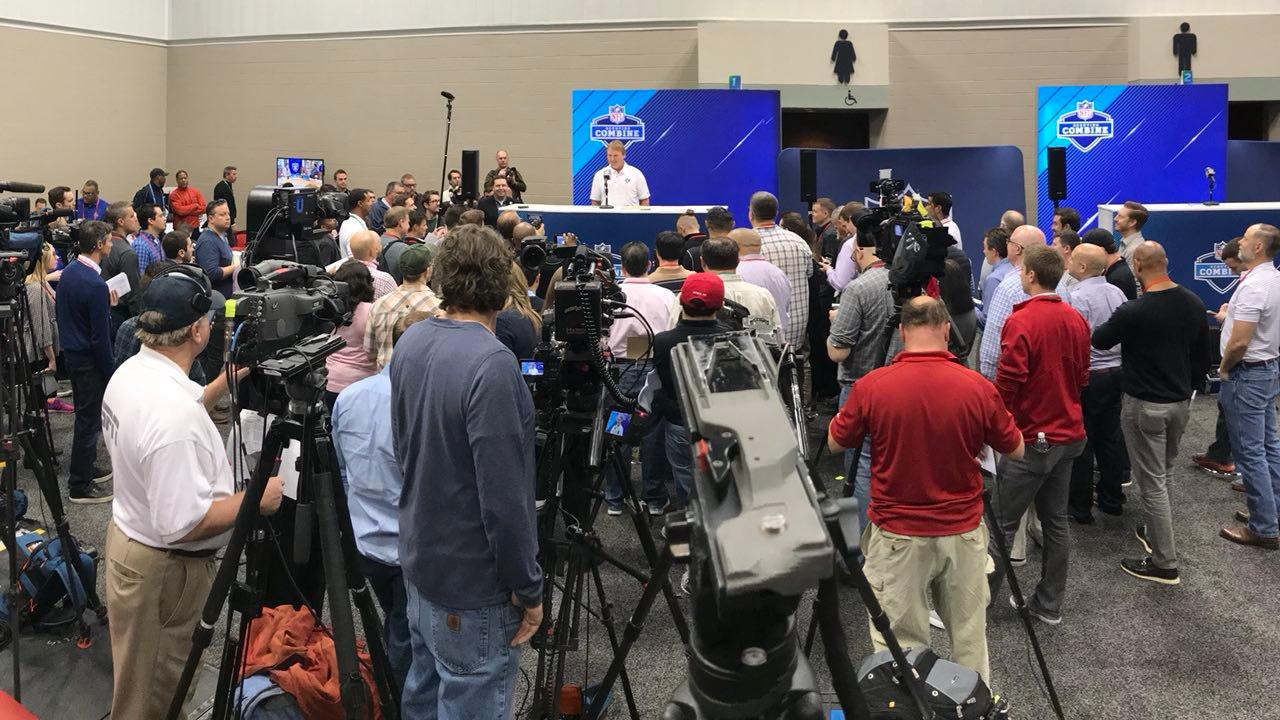 A popular guy this morning.  Rewatch Coach Gruden's #NFLCombine presser here:  https://t.co/82y2aTG4Gd #RaiderNation https://t.co/cDsz4pAyzg