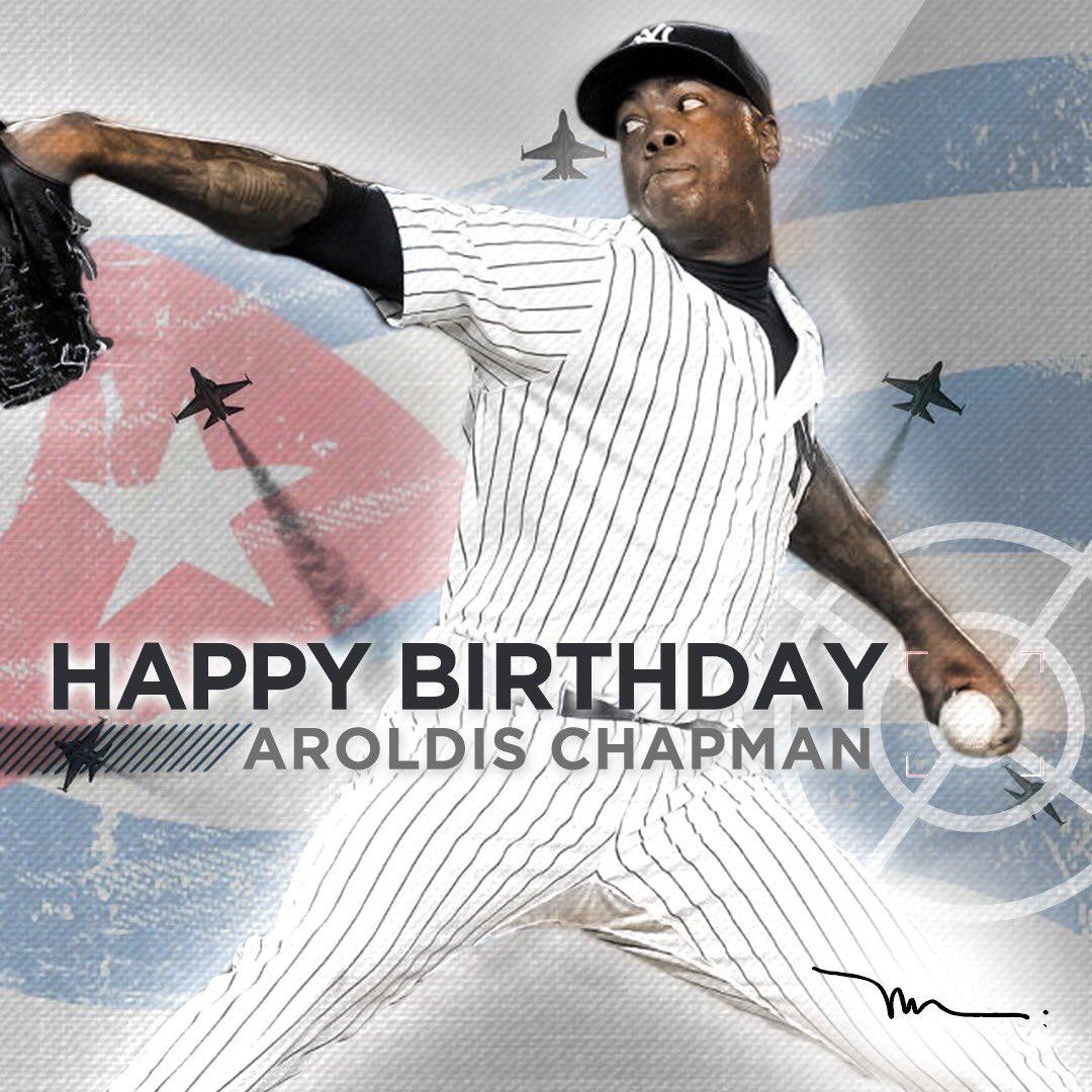 Feliz cumpleaños a mi hermano el Misil Cubano, Aroldis Chapman #HappyBirthday #MagnusStrong https://t.co/Qnq7lQUM0k