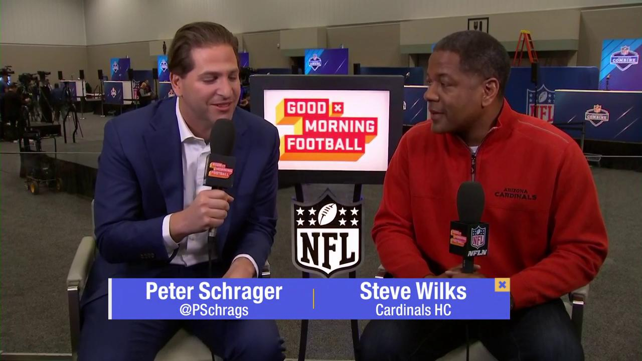 'Very exciting time for us.'  Steve Wilks joined @PSchrags on the @nflnetwork's @GMFB from the #NFLCombine. https://t.co/LgW9xj599h