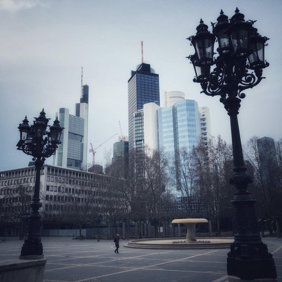 Morgen Frankfurt guten morgen frankfurt meteorologischer frühlingsanfang klar