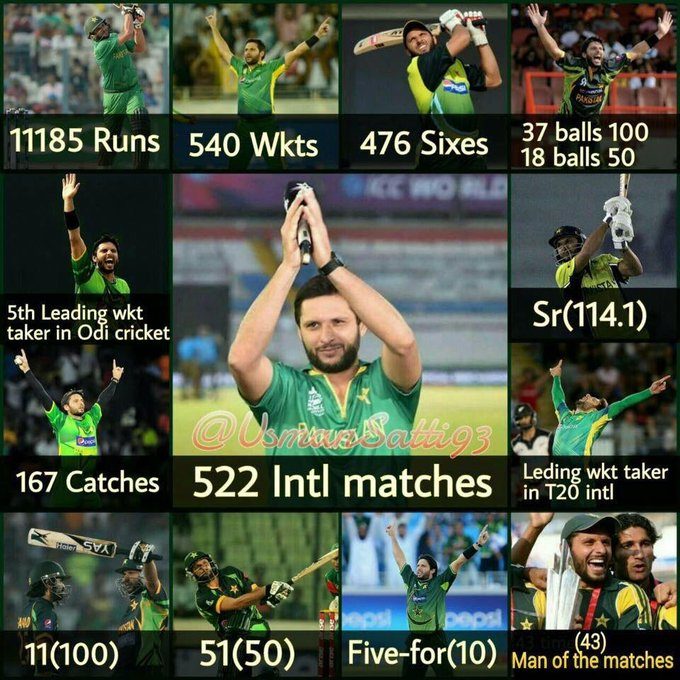 Happy Birthday to the legend, icon & heartbeat of Pakistan Shahid Khan Afridi