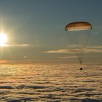 Two Nasa astronauts and Russian cosmonaut land in Kazakhstan after ISS mission