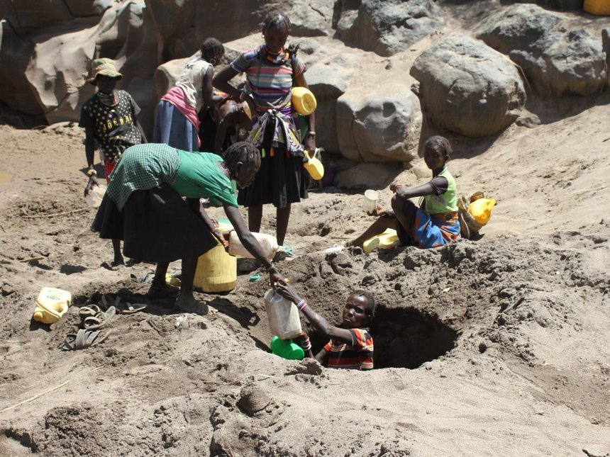 Women abort as drought makes them dig up, drink dirty water