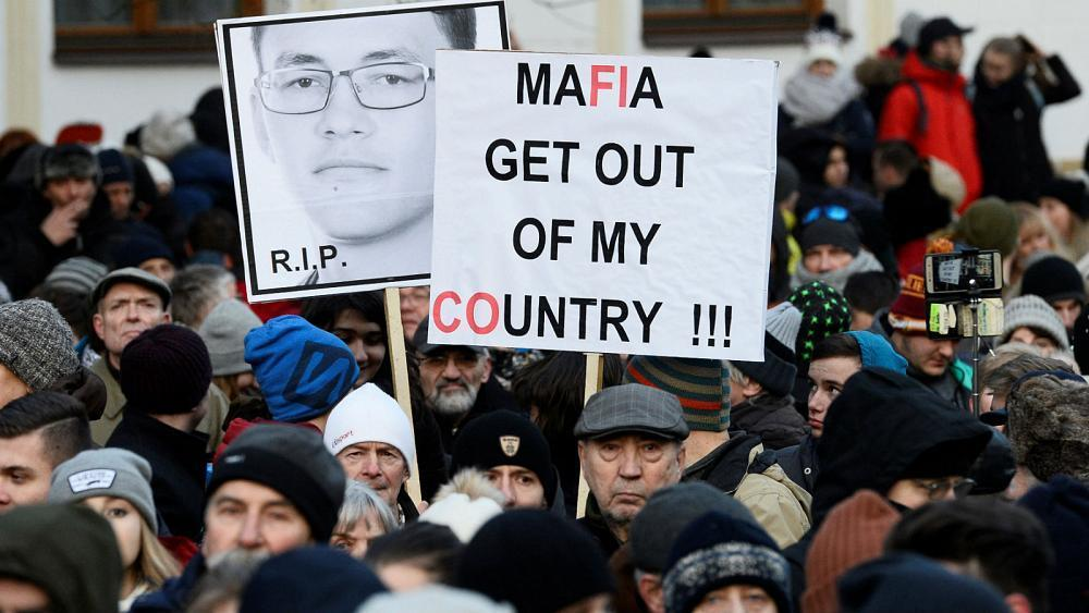 Anger over journalist's murder piles pressure on Slovakia's government
