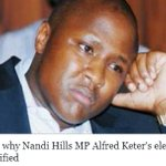 Reasons why Nandi Hills MP Alfred Keter's election win was nullified