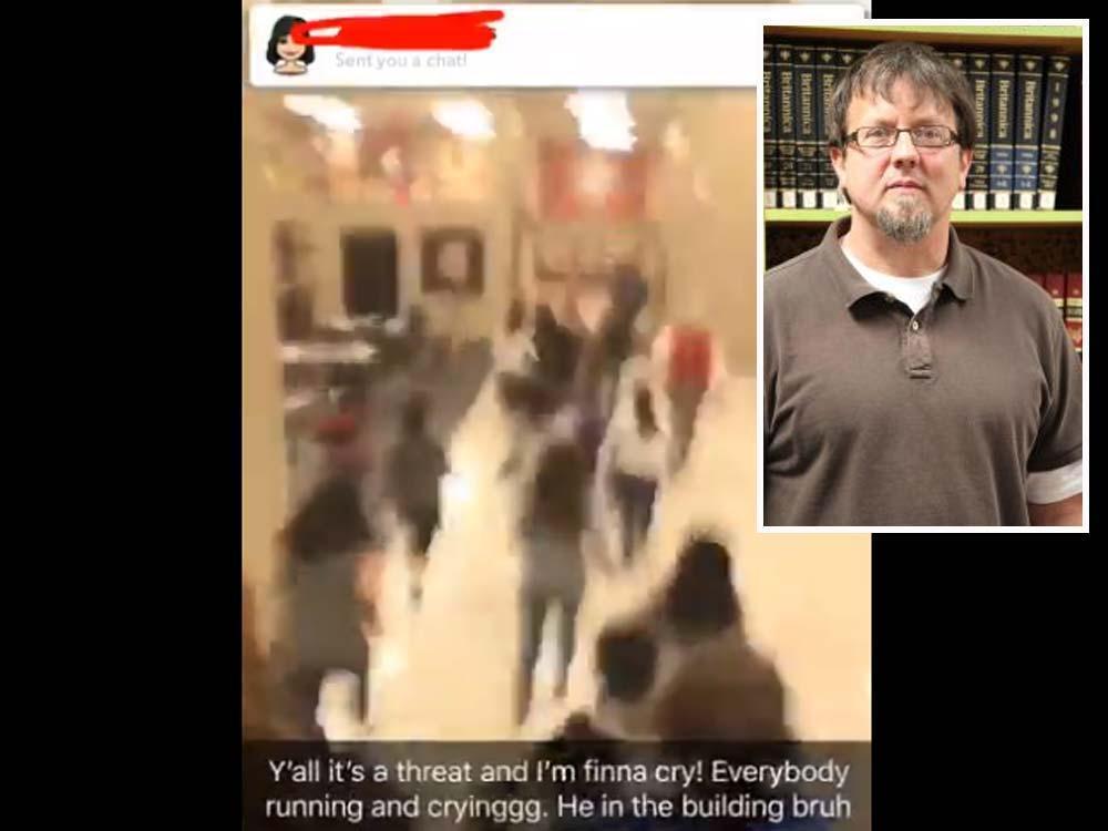 Georgia teacher fires gun, barricades self in classroom, police say