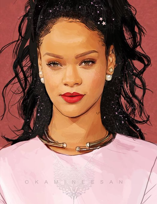 My digital art of the beautiful Rihanna! Happy belated birthday!