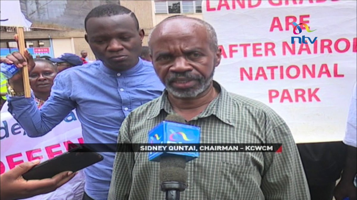 Activists protest construction of SGR in Nairobi Park