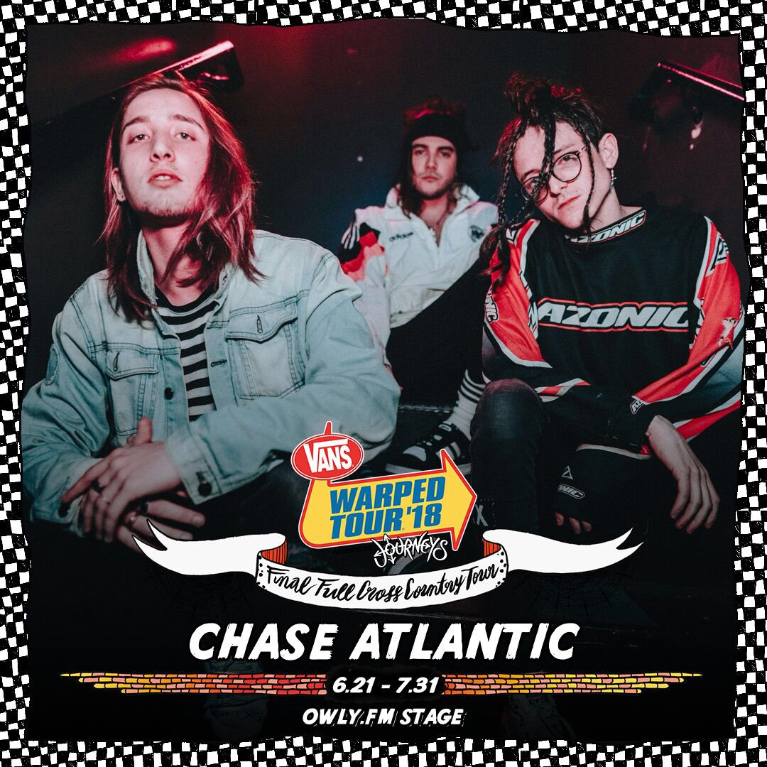 RT @ChaseAtlantic: Honored to announce that we will be playing the final cross-country run of the @VansWarpedTour https://t.co/oxyWKxnZzj