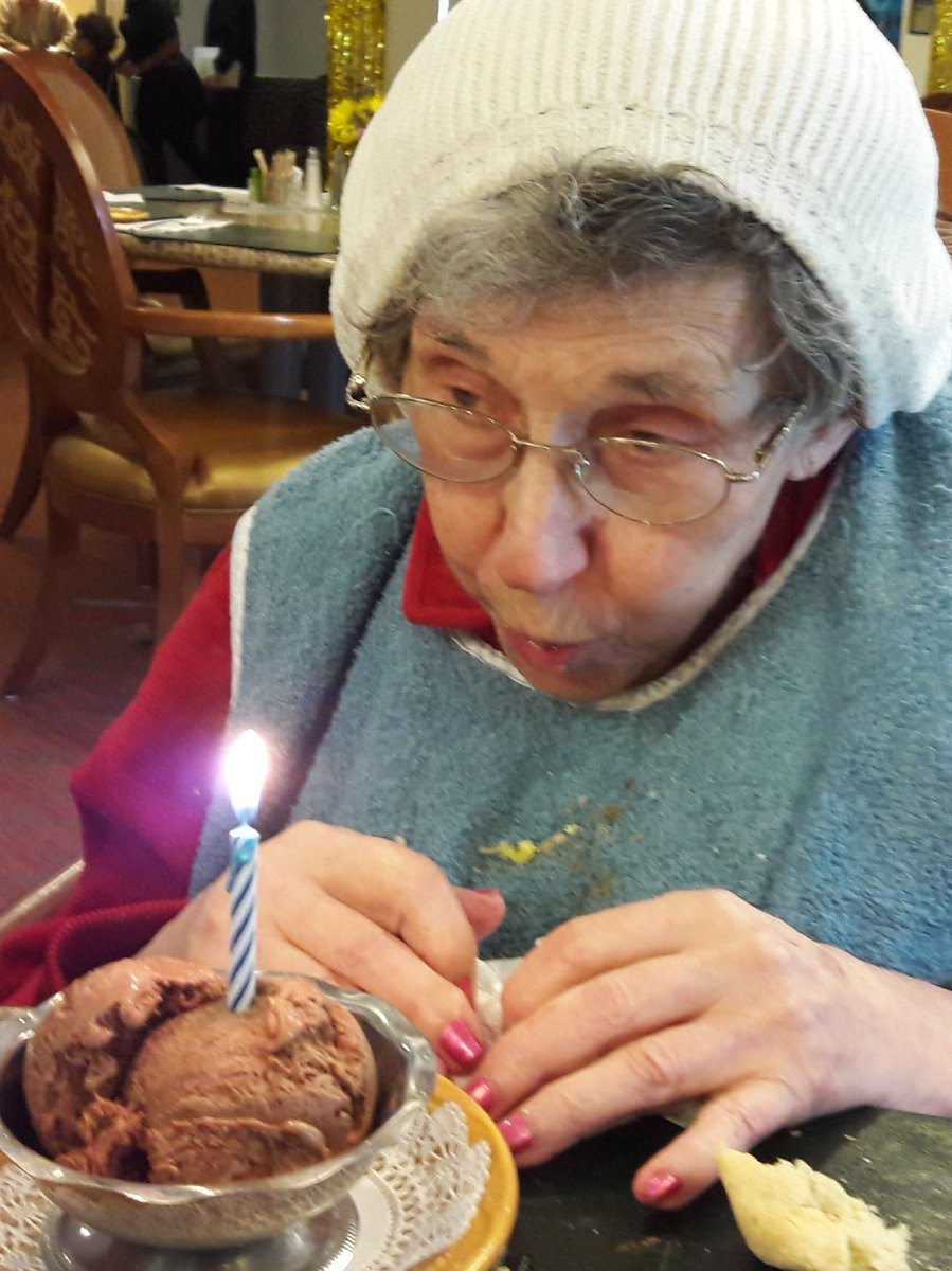 1 pic. My adorable mother Lucille turned 92 today. JKMVa0gSW8