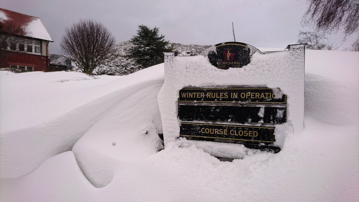 test Twitter Media - The Beast From The East has left us  at least a foot of snow covering all the course. Absolutely no chance of golf being played over the weekend. Keep warm and we will see how it looks on Monday. https://t.co/4gJwuhB6m8