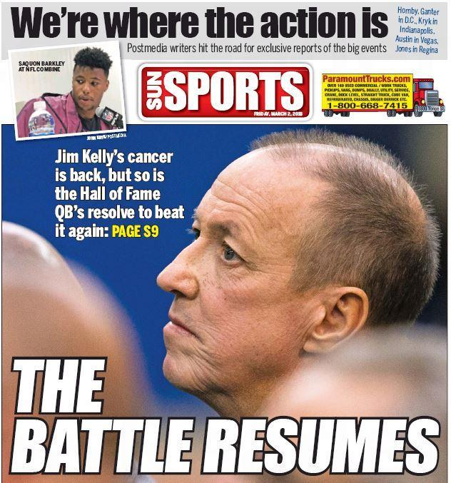 News of Jim Kelly's oral cancer return a gut-punch to NFL