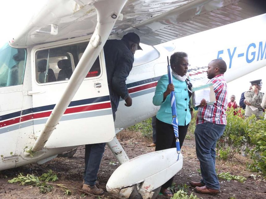 Former MP Murugi and two others cheat death after plane crash-lands