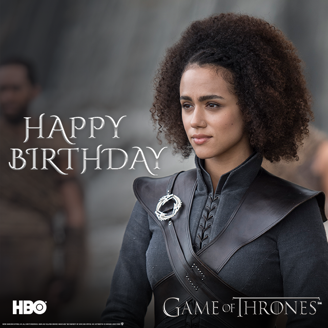 RT @HBO_UK: How does one say Happy Birthday in Dothraki, @missnemmanuel? #GameofThrones https://t.co/7E50ExDQGL