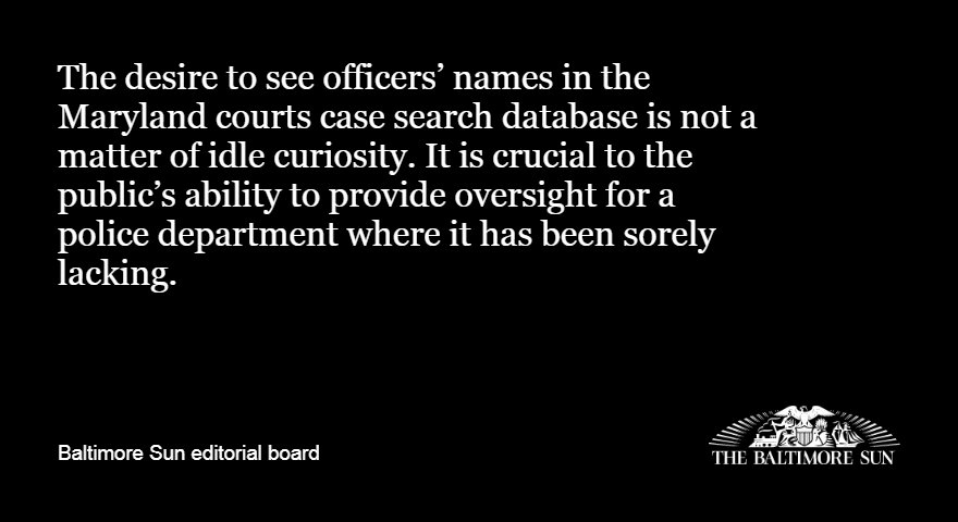 For Maryland court records, opacity when transparency is needed most