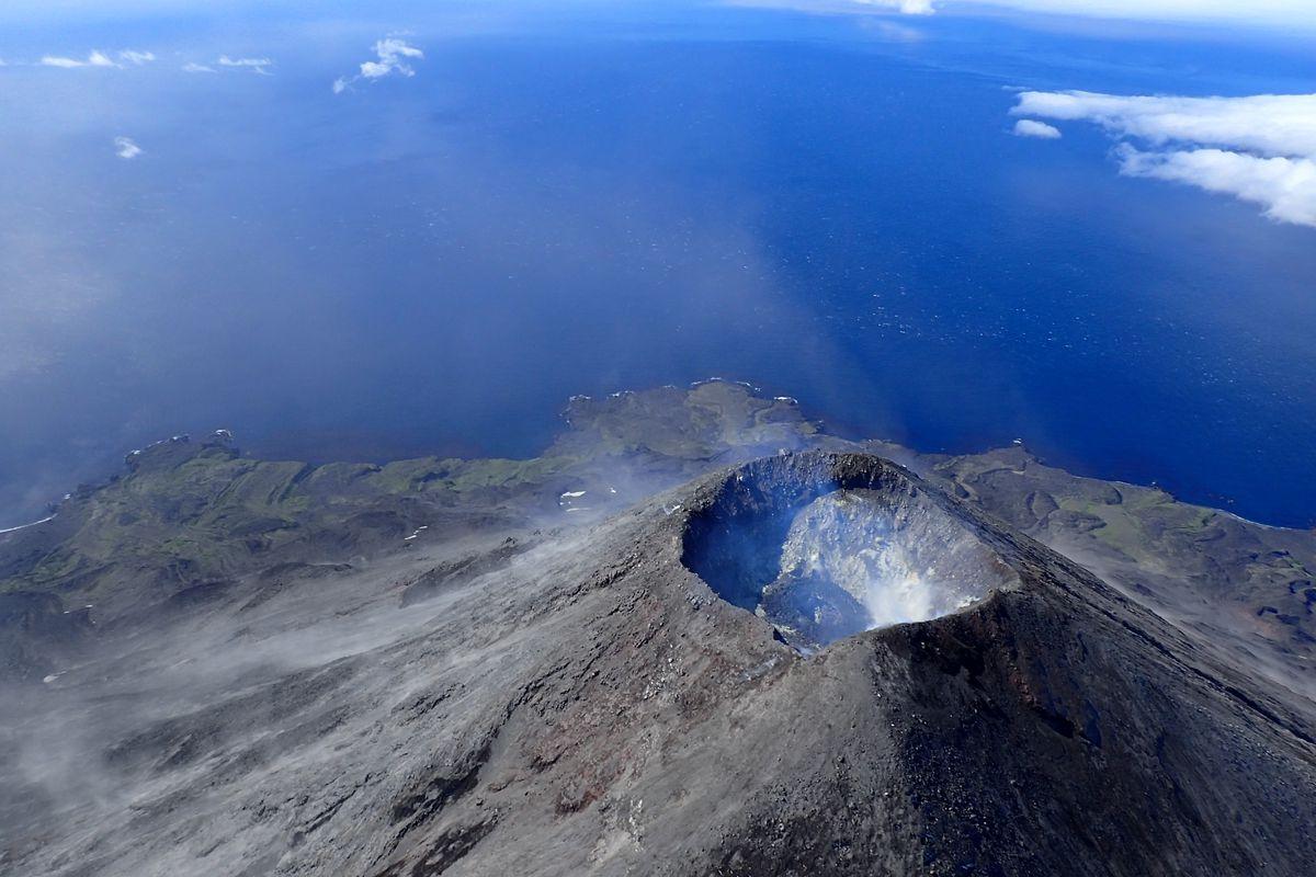 Aleutian volcano erupts, sending ash cloud miles into the sky