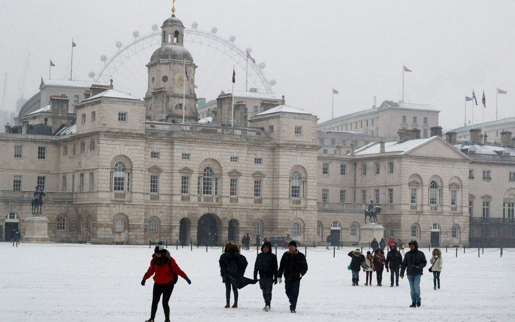 It's So Cold in Europe That the British Military Had to Help People Get to Work