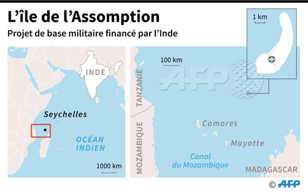 Seychelles: controverse autour d'un projet de base militaire financé par l'Inde