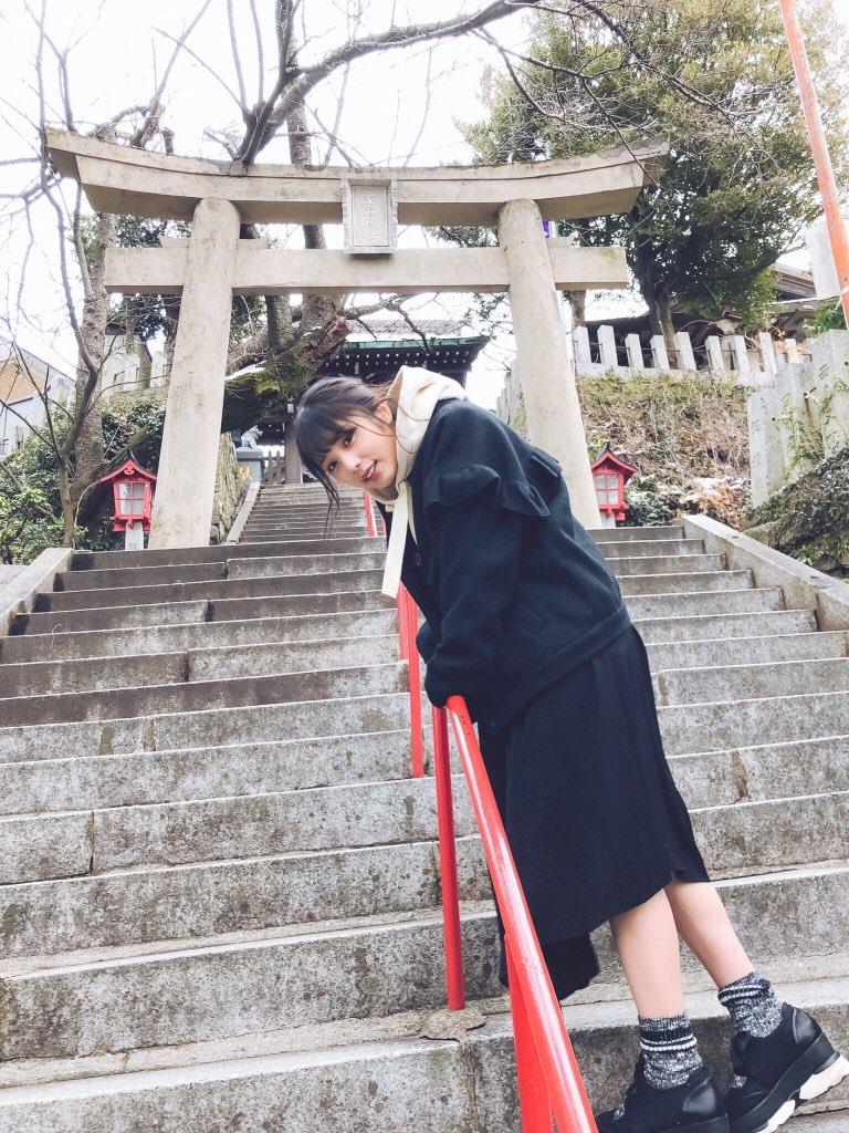 おはよ! 今日も1日楽しもうね♡ 案内したいとこ考えてきたよー☺️ ちょっと登るけど大丈夫…?  #与田祐希 #...