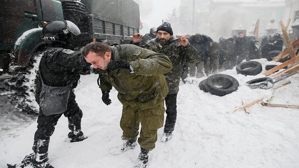 police raid protester camp