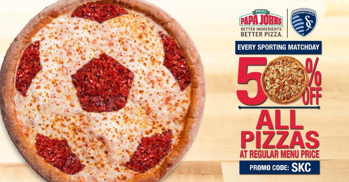 test Twitter Media - Anyone hungry yet? Let's get some food in those stomachs. Code: SKC Deal: 50% OFF Of What: All regular menu priced @PapaJohns pizzas. Really?: Yeah ALL OF EM. https://t.co/08QOJGa9oj