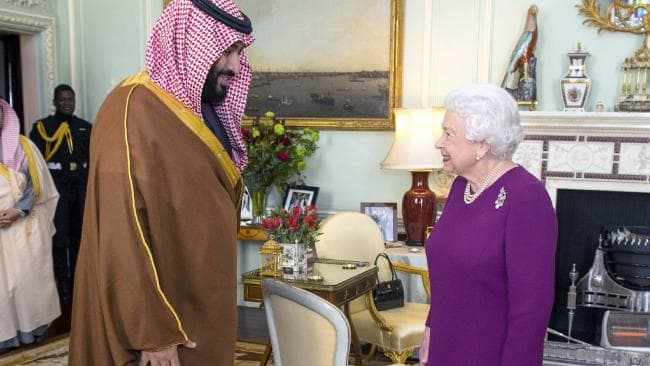 Saudi Arabia's Crown Prince Mohammed bin Salman meets Queen, Prime Minister in Britain