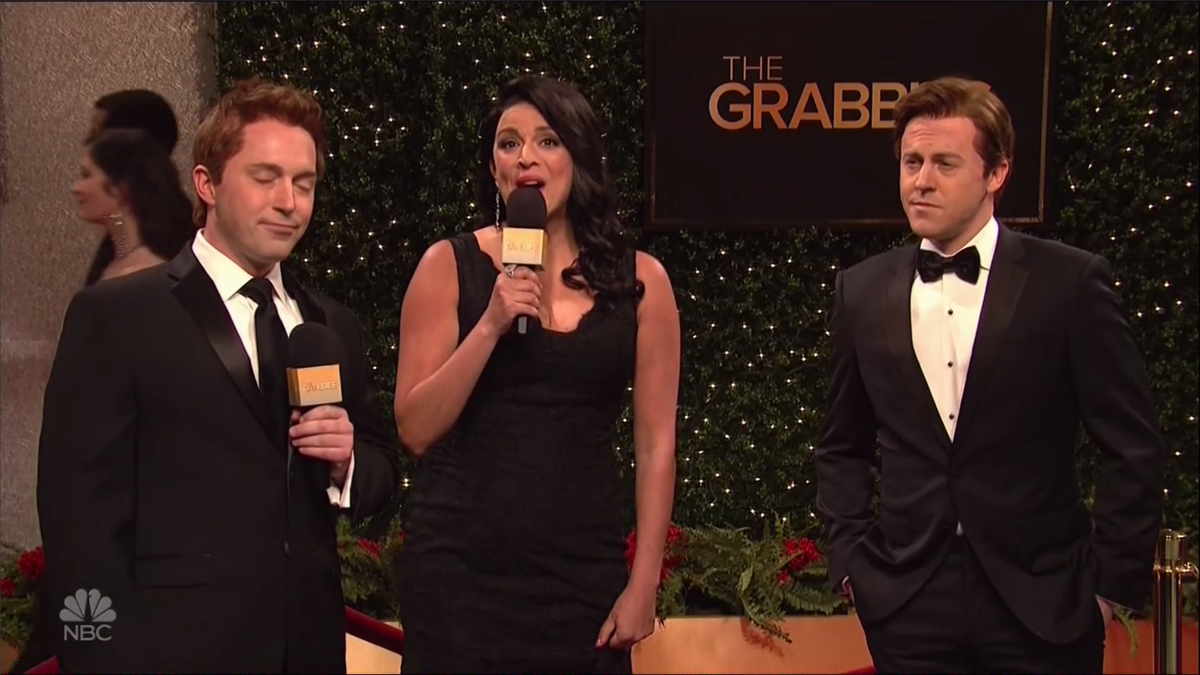 "SNL spoofed the Oscars with ""The Grabbies"" awards"