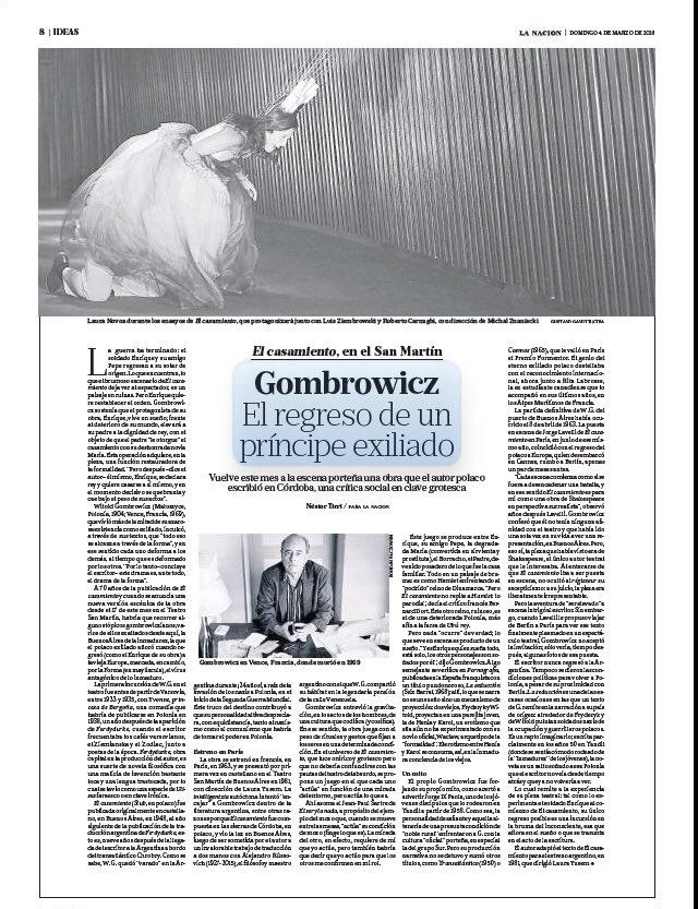 #Gombrowicz. El regreso de un pr