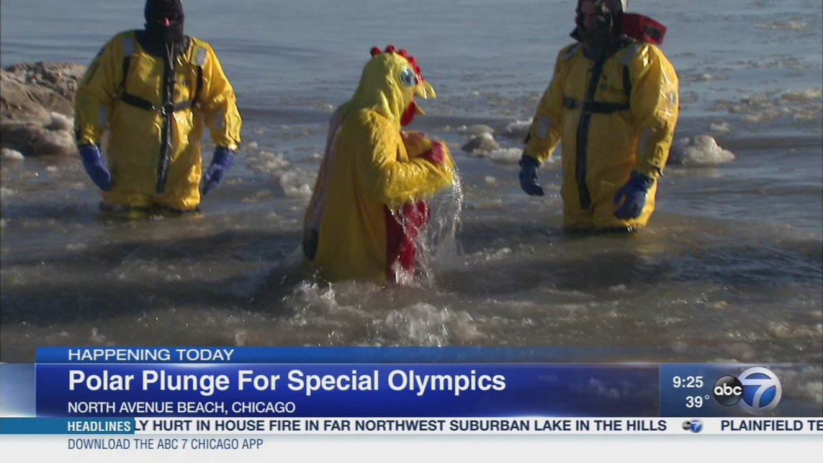 Polar plunge for Special Olympics Sunday