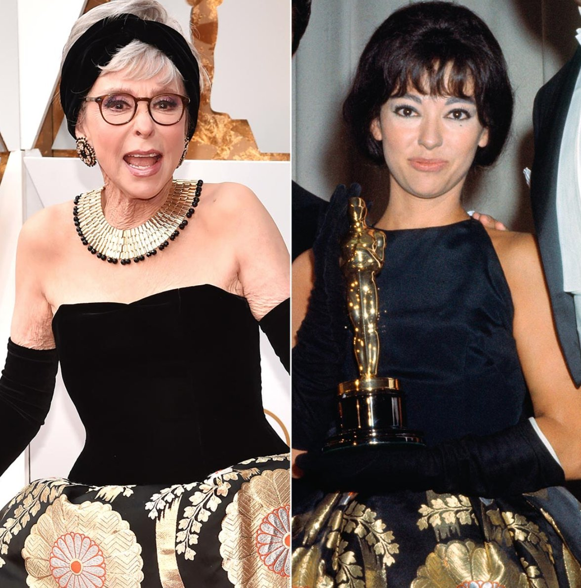 Rita Moreno Recycles Her 1962 Oscars Dress 56 Years Later for the 2018 Academy Awards