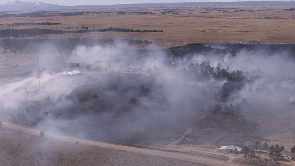 3 homes, 4 barns lost in brush fire south of Kiowa