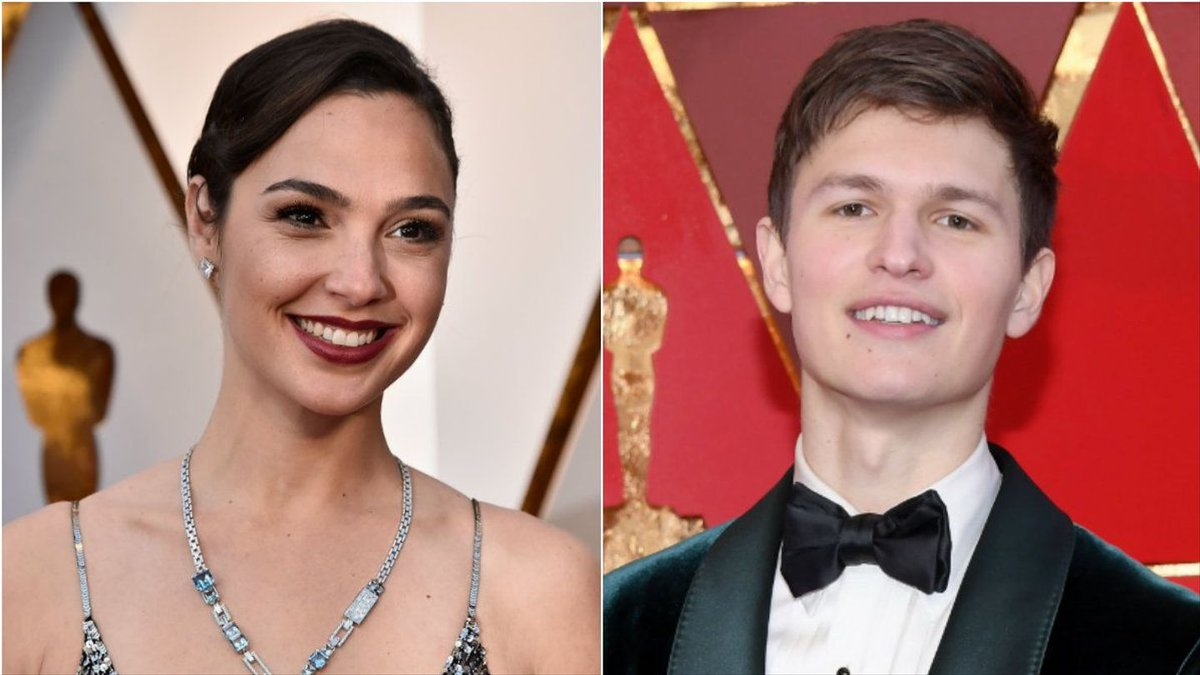Gal Gadot And Ansel Elgort Left The Oscars To Shoot Hot Dogs Out Of A Cannon