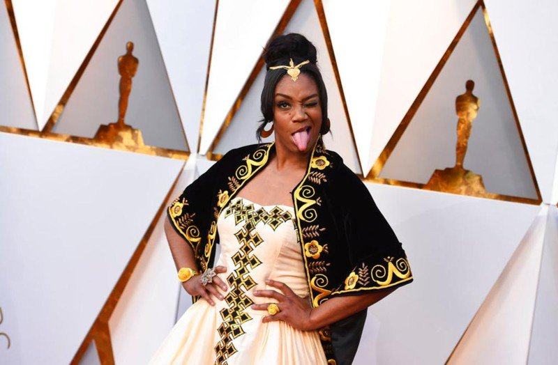 Tiffany Haddish honors late father by wearing Eritrean dress on Oscars red carpet