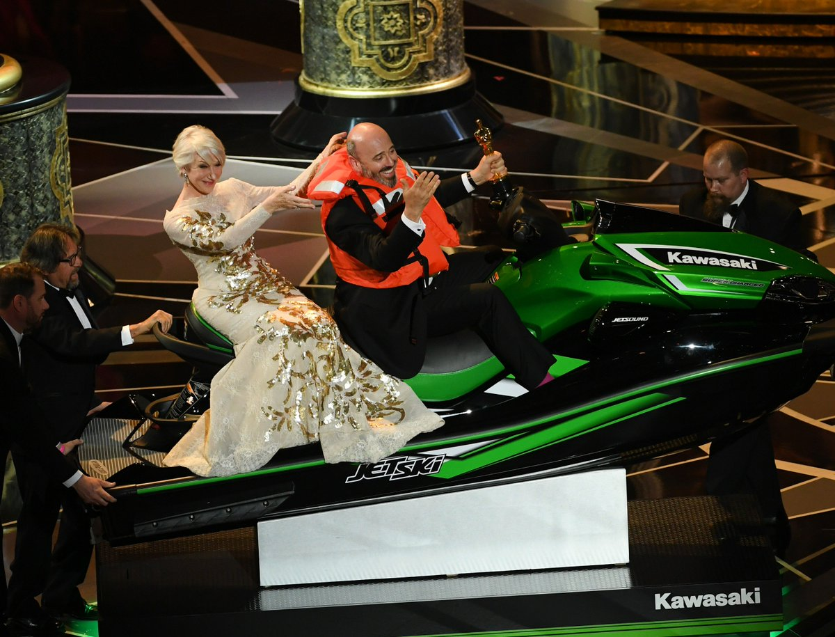 Oscars: @JimmyKimmel gives away a jet ski to winner with the shortest acceptance speech