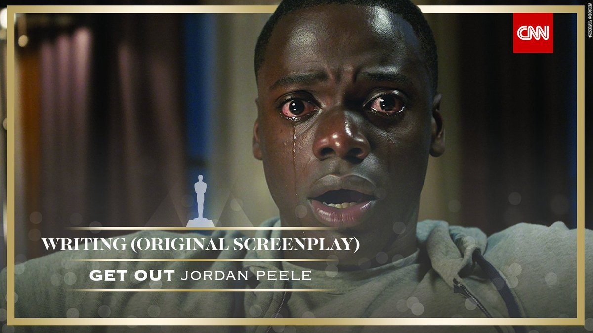 """RT @CNN: """"Get Out"""" wins best original screenplay #Oscars https://t.co/4xdUYlDptp https://t.co/7khrGqWaJs"""