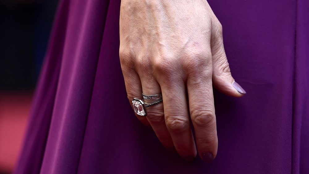 Ashley Judd wore a custom diamond ring to the Oscars in support of the TimesUp movement