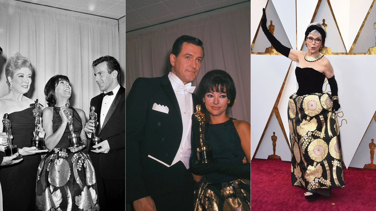 .@TheRitaMoreno recycled her 1962 Oscars dress for the 2018 Academy Awards
