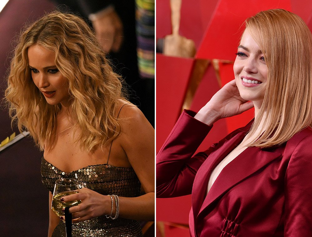 Jennifer Lawrence And Emma Stone Shared A Hilarious Moment At The Oscars