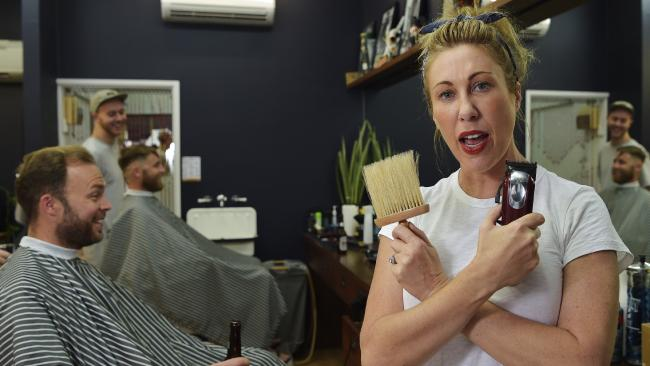 Barber hits back: 'Women do not have the right to take up space everywhere'